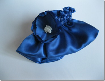 cobalt blue wedding ring bearer pillow and garter (22)