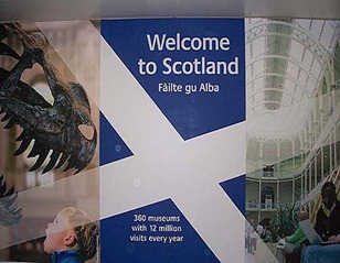 Edinburgh airport sign
