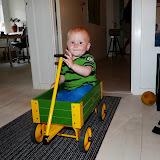 Magne i trækvogn hos familien i Århus