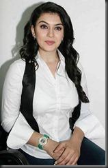 hansika in white dress