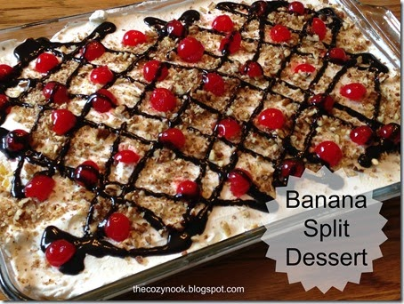 Banana Split Dessert - The Cozy Nook
