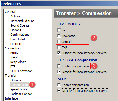 FlashFXP Compress
