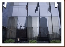 Ground Zero mirrored Millenium Hilton