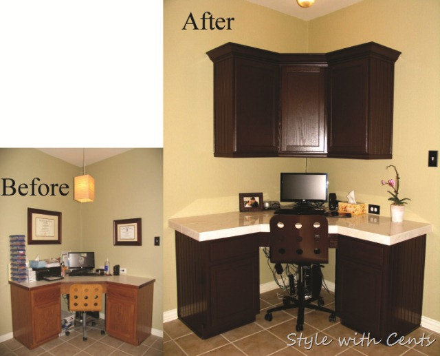$750 total kitchen remodel sherwin williams turkish coffee bead board cabinets kitchen before after4