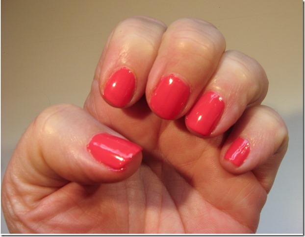 Essie Peach Daiquiri nails