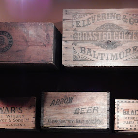 SPIRITS IN A BOX by TONY LOPEZ - Artistic Objects Other Objects ( logo, wooden, brand, label, box, artistic objects, past, drinks,  )