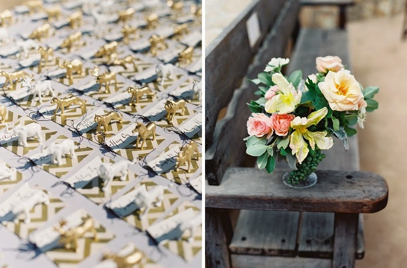 22 Oak and the Owl _ Gold Animal Escort Cards