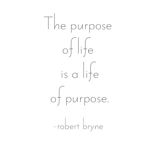 the purpose of life -- bryne