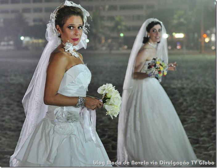 moda da série tapas e beijos - vestido de noiva de fátima e sueli