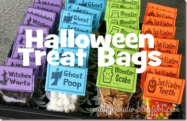 Halloween Treat Bag Labels from mudpiereviews.blogspot.com