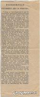 Krantenknipsel Uitvoering 'Een in Streven' Beerzerveld
