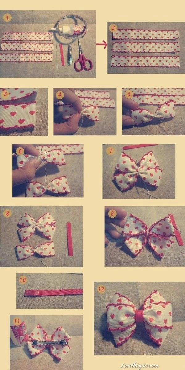 Как сделать бантик бабочку из ленточки