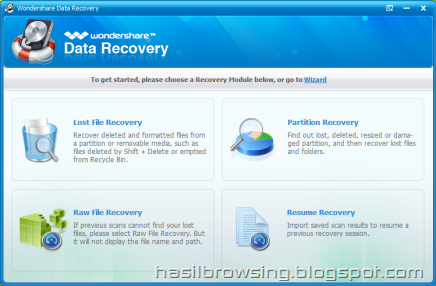 wondershare data recov