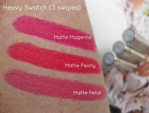 Clinque-soft-matte-lipstick-swatches-matte-magenta-matte-peony-matte-petal-