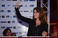 Letícia Spiller marcando presença no Festival