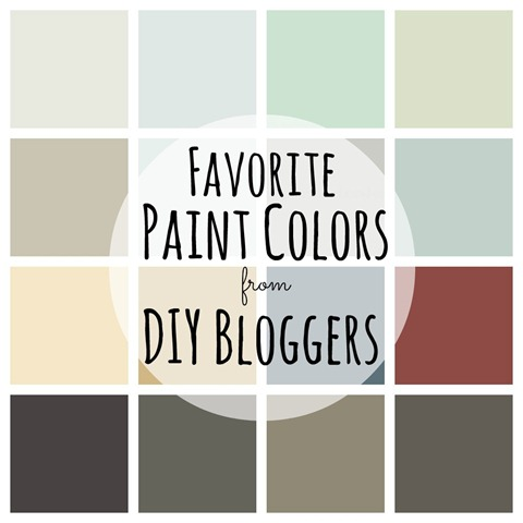 Favorite Paint Colors from DIY Bloggers