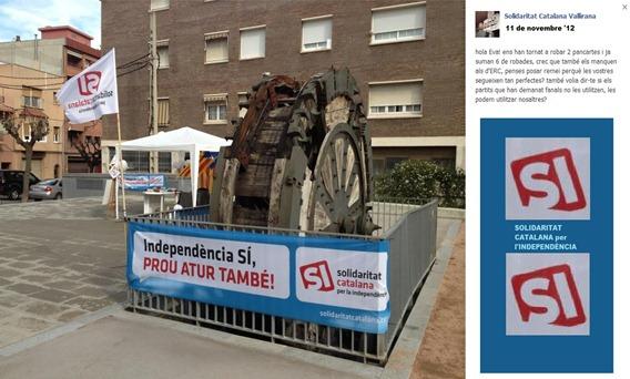 Guèrra de pancardas en Catalonha