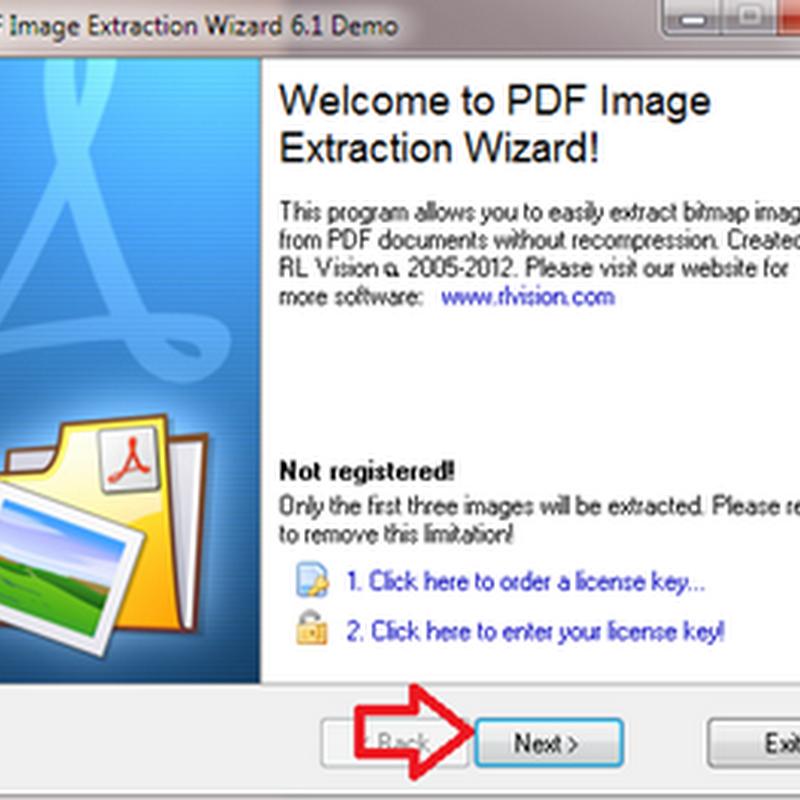 การแยกรูปออกจากเอกสาร PDF ด้วยโปรแกรม PDF Extract image wizard