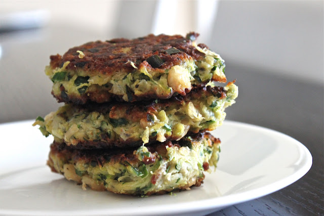 Zucchini-White Bean {Bacon} Fritters