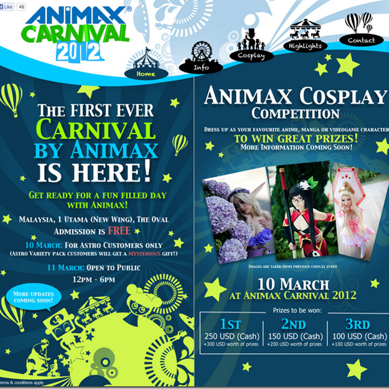 Animax Carnival 2012 ( Alodia + Cosplay Competition)
