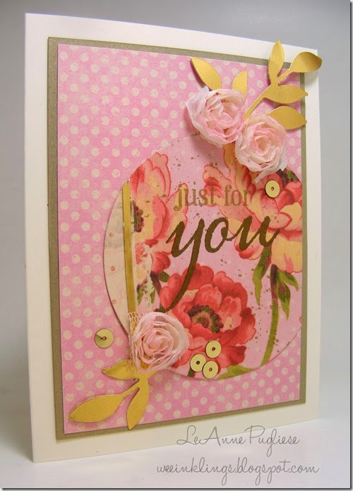 LeAnne Pugliese WeeInklings Just For You Shower Card Stampin