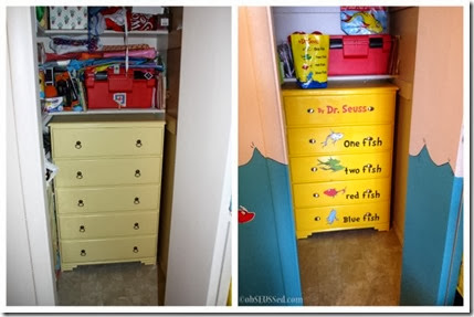 Seuss Fish Dresser before after obSEUSSed