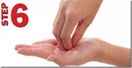 Langkah 6/7 langkah hygiene mencuci tangan