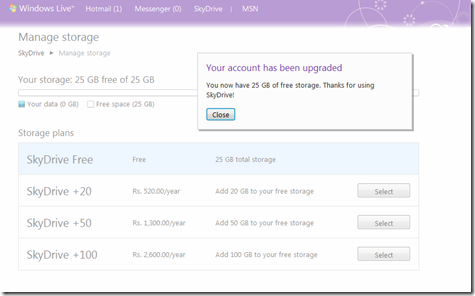 Get 25GB Free Space On SkyDrive5