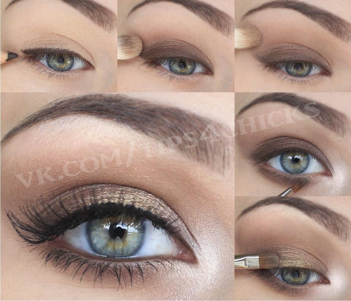 Дневной макияж для зеленых глаз пошаговое фото в домашних условиях 2