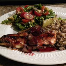 Blushing Pomegranate Chicken