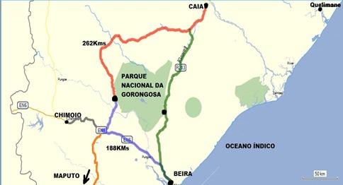 Resultado de imagem para gorongosa mapa
