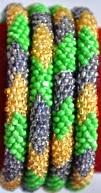 rollover bracelet green golden