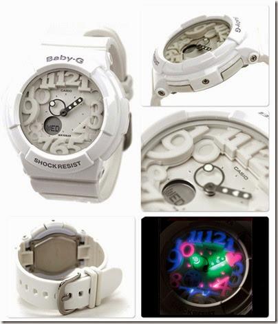 Casio Baby-G BGA-131-7B Neon Illuminator 130 Series white 02