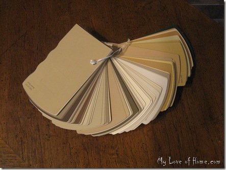Color Paint Fan Deck, Beige Paint samples