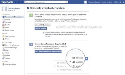 Nueva cuenta de Facebook creada