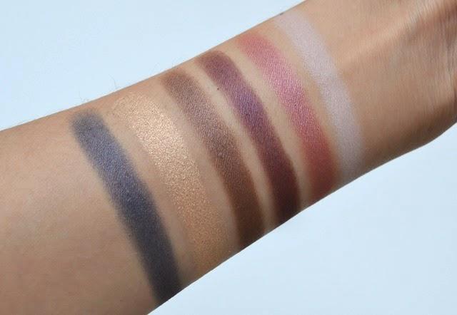 Lise Watier Aurora Eyeshadow Palette Swatches