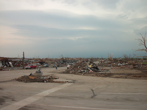 The decimated landscape of Joplin, Missouri. (Photo credit: Missy Belote)