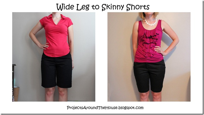 Wide to skinny shorts