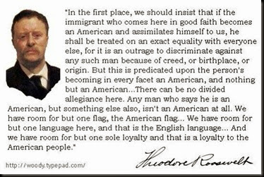 Teddy Roosevelt on Immigration and Being an American