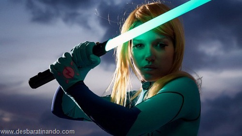 Mashup Metroid Star Wars samus cosplay blonde  (4)