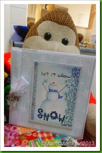 Let It Snow. Snowman card