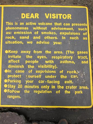 Volcano Warnings, Volcan Masaya, Nicaragua