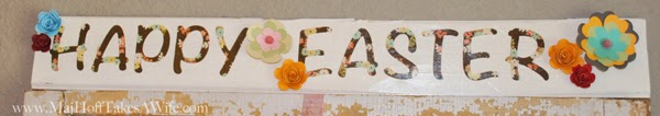 Easter Sign cricut decoupage