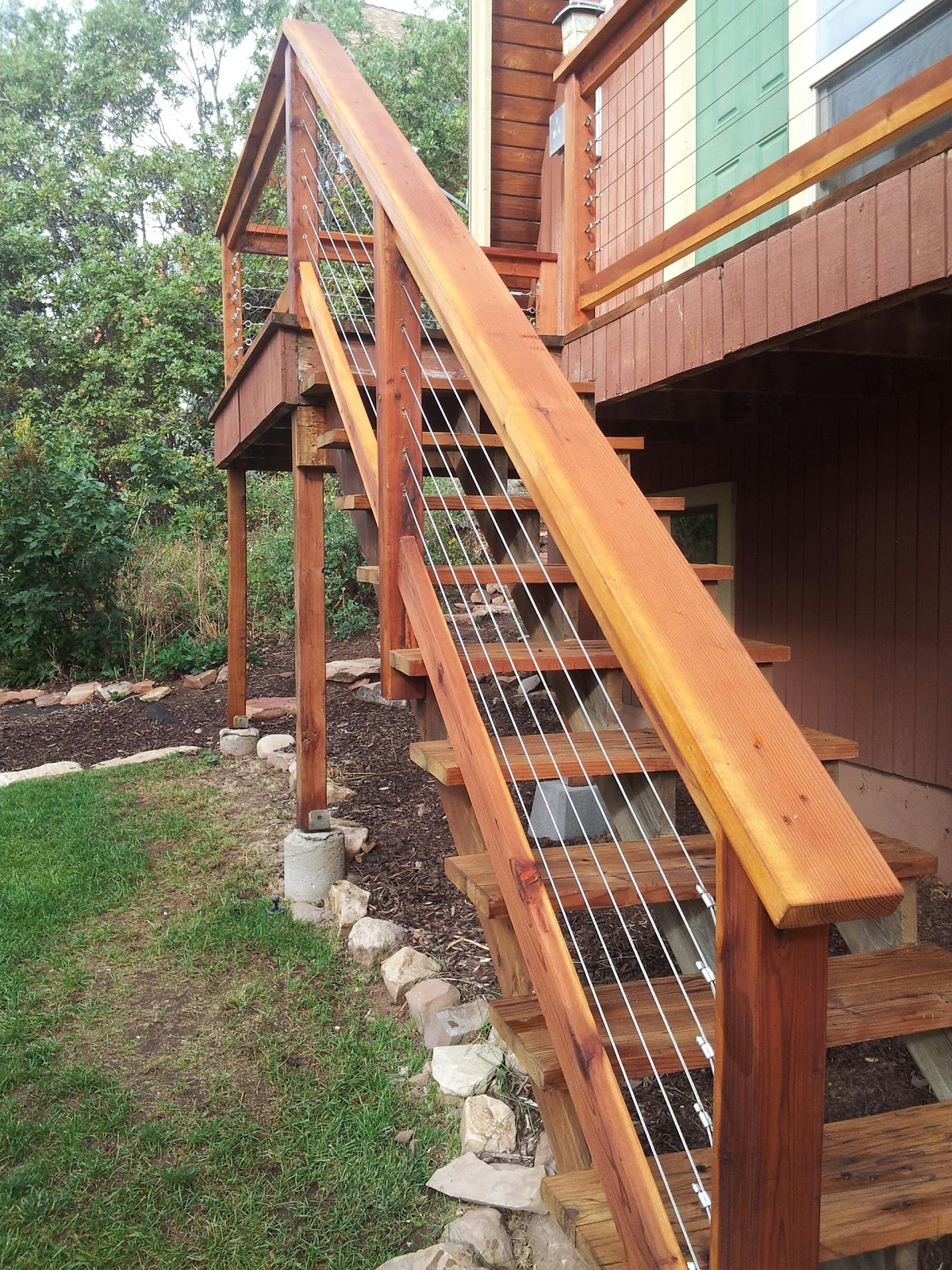 park city wood and deck stylists cable railing. Black Bedroom Furniture Sets. Home Design Ideas