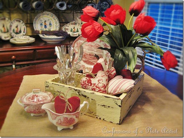 CONFESSIONS OF A PLATE ADDICT Rustic Valentine Centerpiece