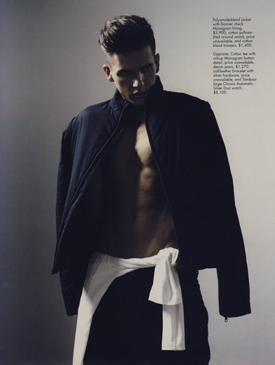 Thiago Cometti by Alwin Oh for Style|Men Singapore, 2/2012. Styled in Louis Vuitton by Daryl Alexius Yeo.