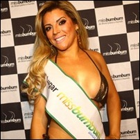 Miss Bumbum Brasil Rosana Ferreira acha que candidata transexual teria que malhar menos para alcançar a forma ideal