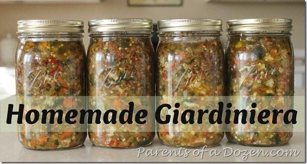 Homemade Giardiniera