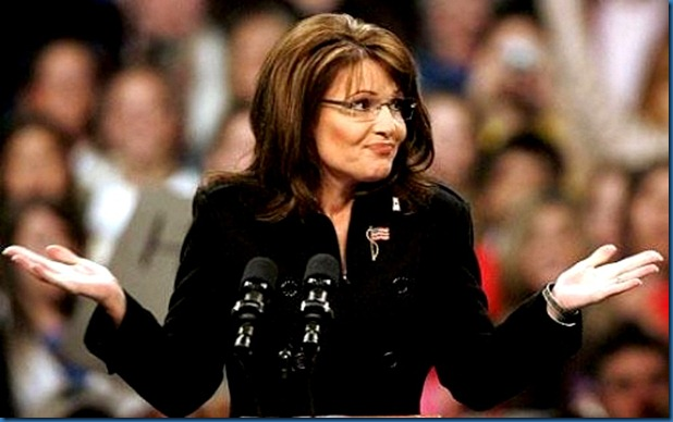 Sarah Palin shrugging