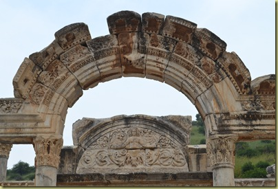Ephesus curetes street arch detail